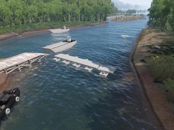 WIP Ponton-Brücke