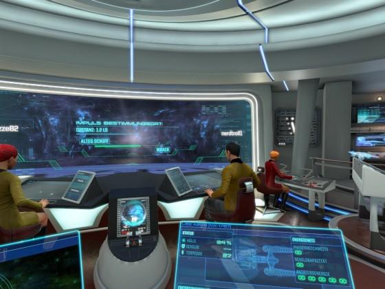 Bridge Commander: Montie auf Brücke