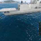 Durchfahrt unter die feindliche Fregatte